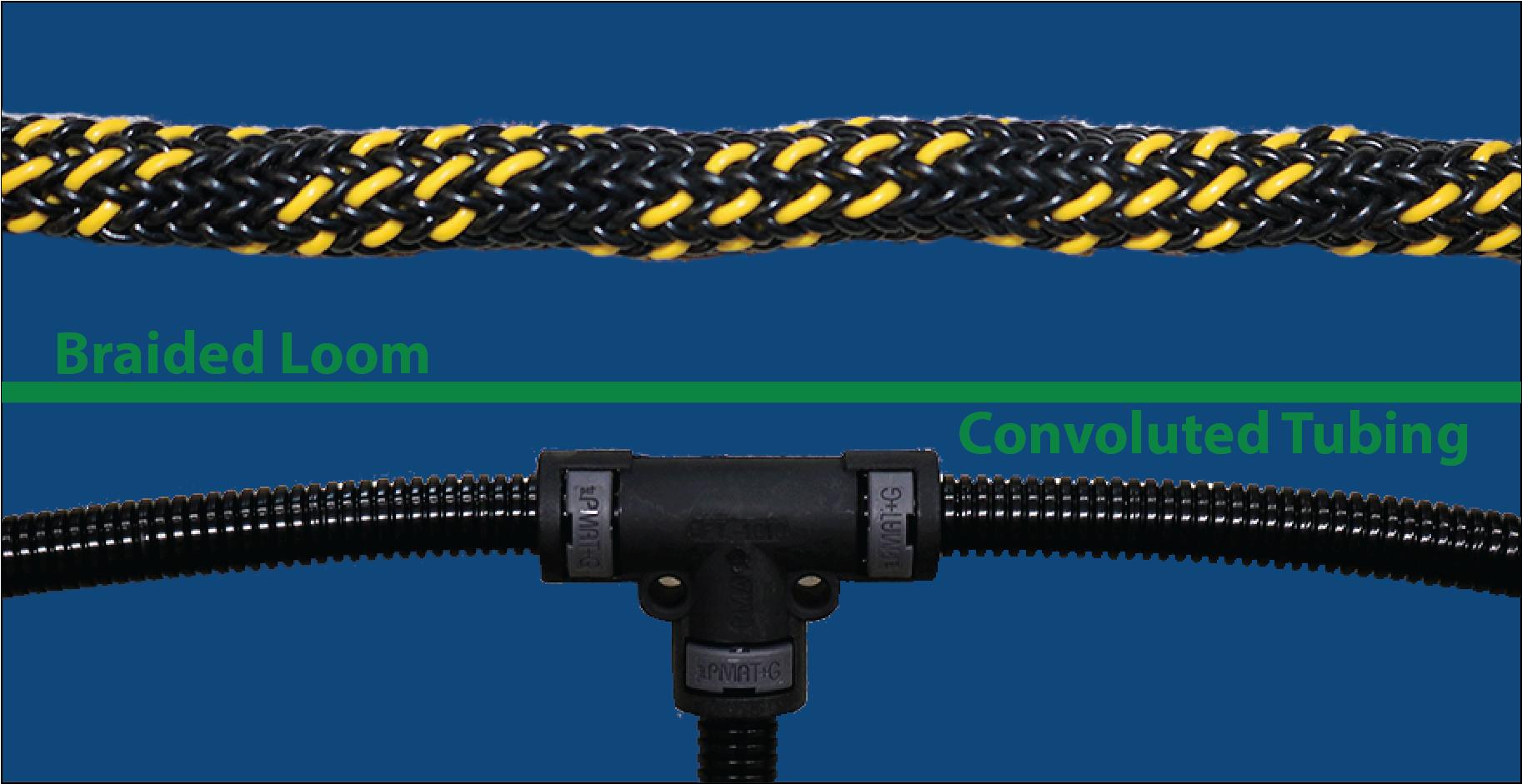 Loom vs Convoluted Tubing 875x450