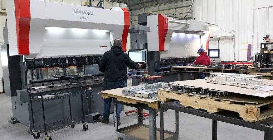 MCL Industries has two press brakes in their metal fab division